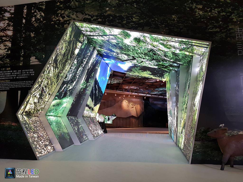 LED燈箱,玉山國家公園管理處-南安遊客中心,框架及LED燈源固定施工照