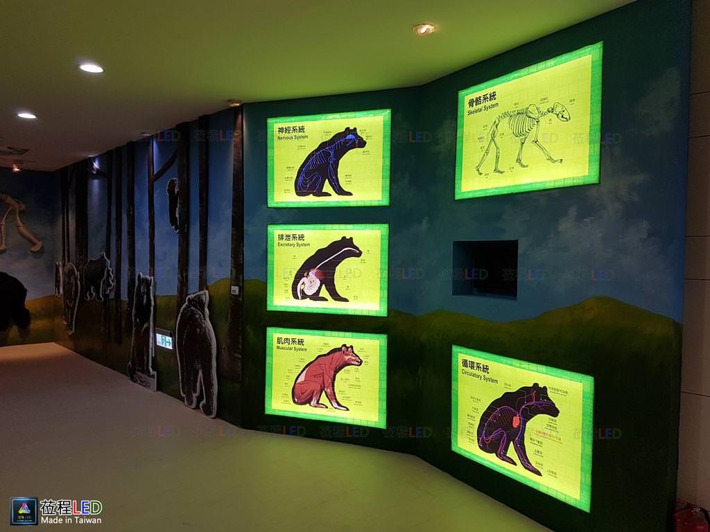 LED燈箱,玉山國家公園管理處-南安遊客中心,LED布燈箱台灣黑熊區,施工前照