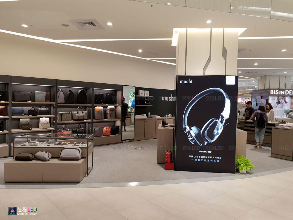 LED燈箱,百貨公司專櫃,led增加色彩的透光度