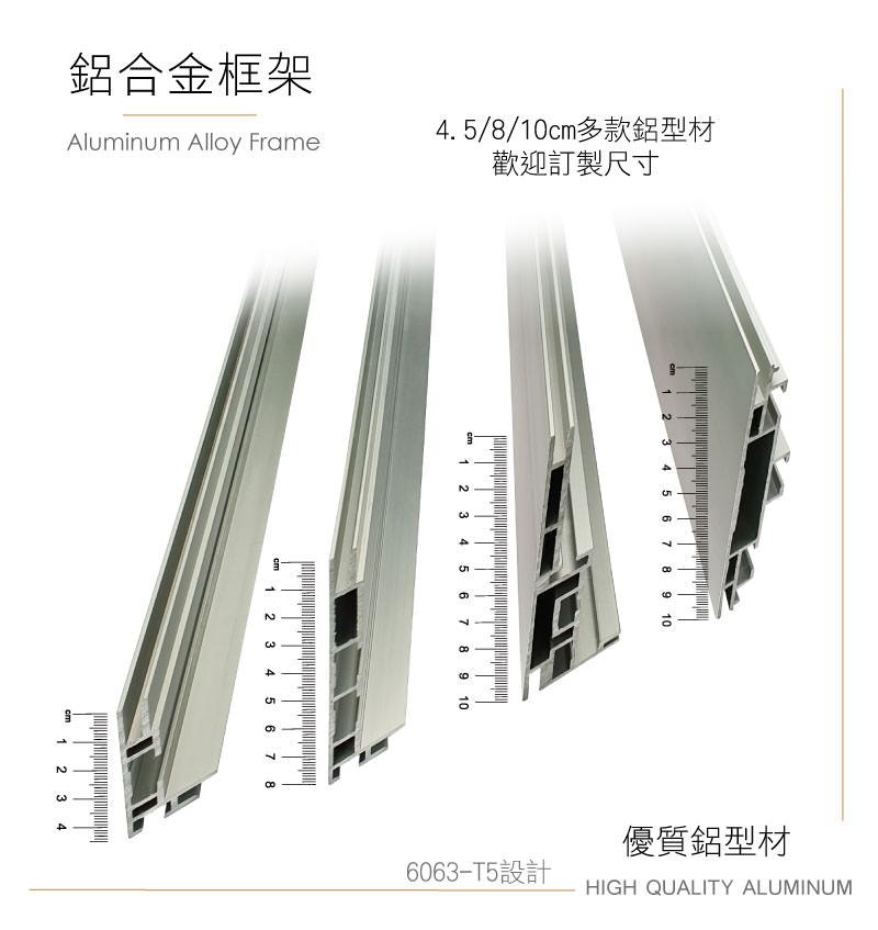 LED展覽布幔燈箱-卡布燈箱-無邊框燈箱-鋁型材介紹