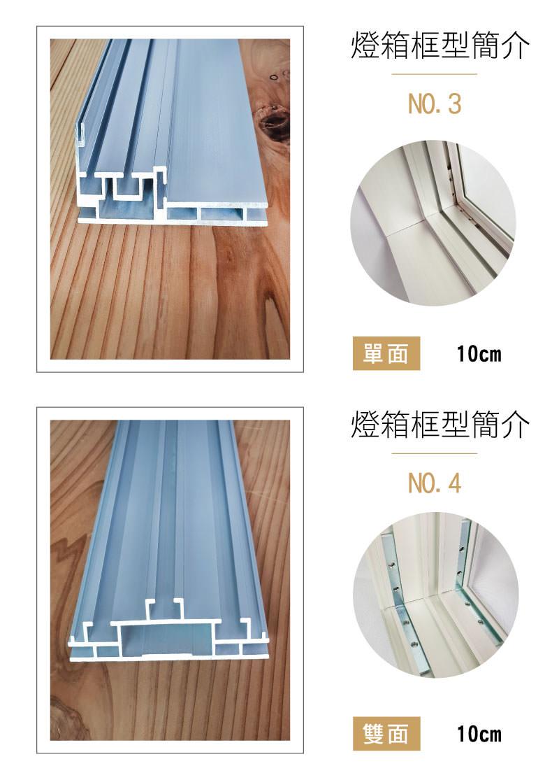LED布幔燈箱-卡布燈箱-無邊框燈箱-10cm鋁型材介紹