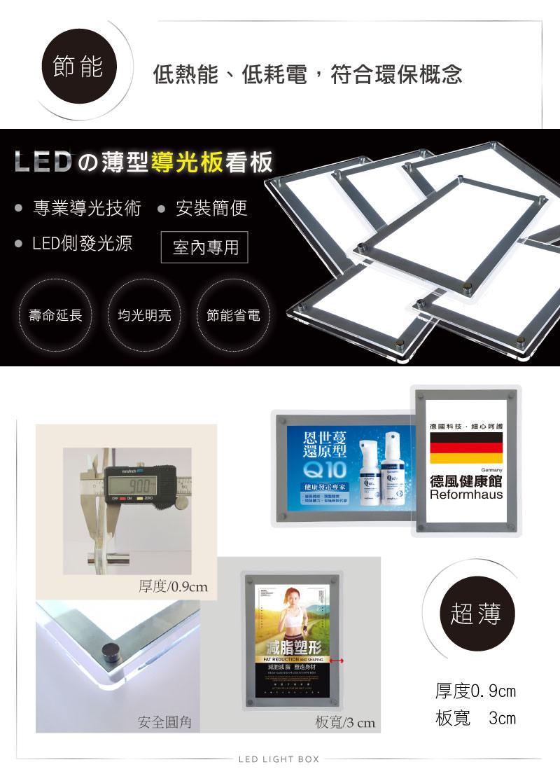 LED水晶燈箱燈箱系列-厚度版寬介紹  導光板專用