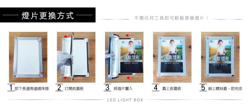 LED水晶無框燈箱-燈片更換方式說明