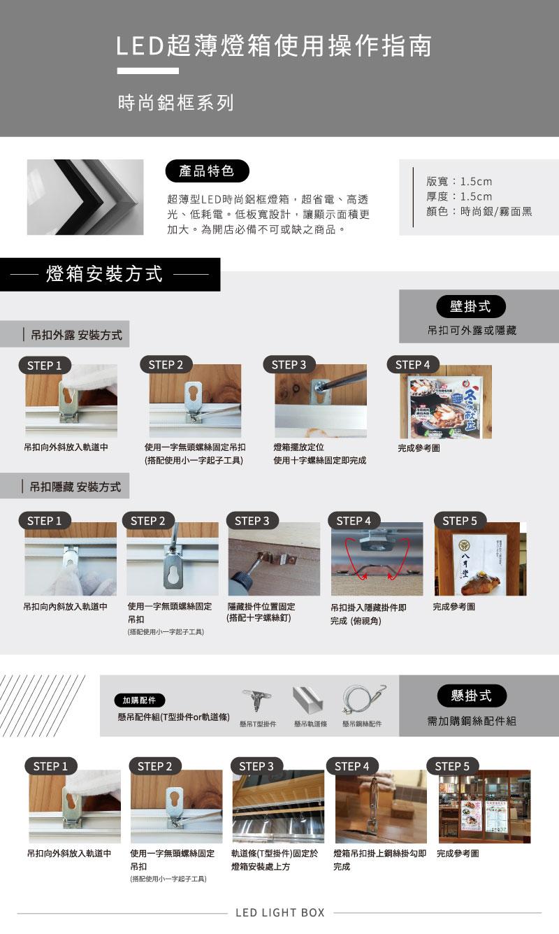 LED鋁框燈箱簡介-使用說明