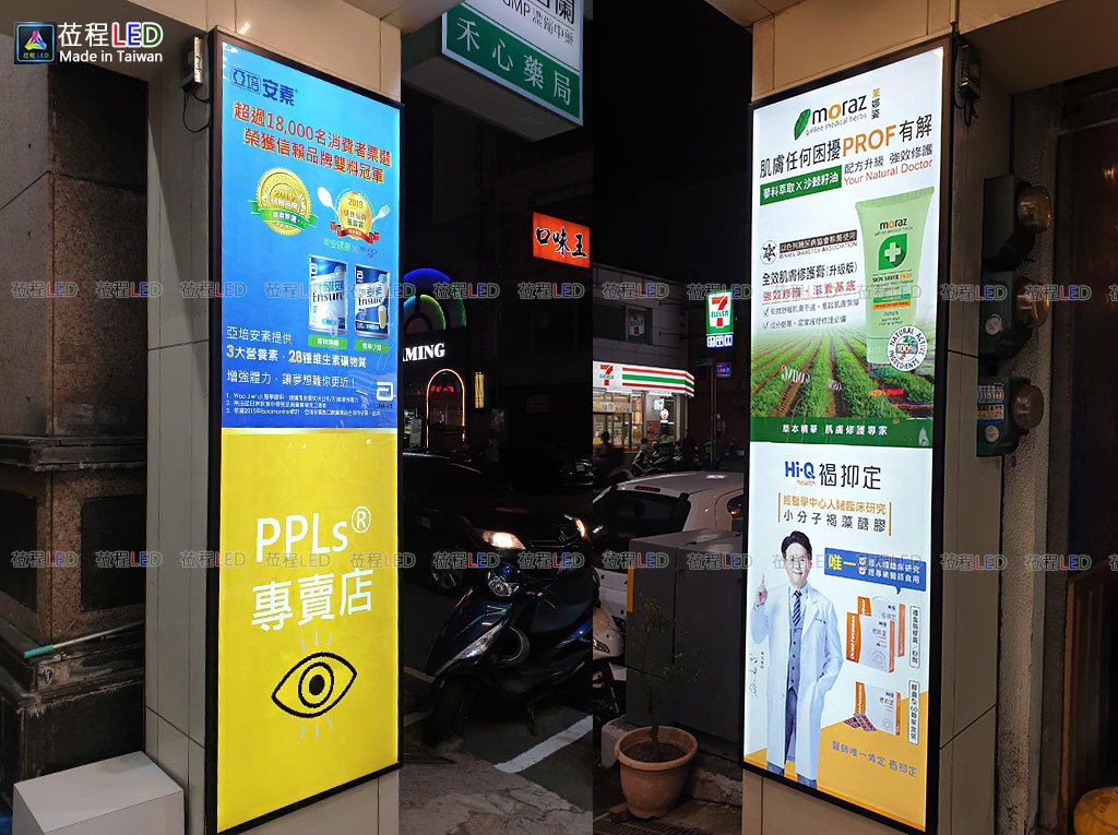 防水鋁框燈箱-四邊上掀式設計-LED廣告燈箱
