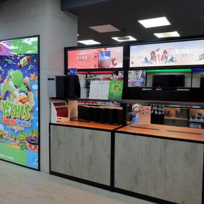 新竹3C賣場-LED薄型廣告燈箱-雙面燈箱